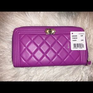 Chanel Large Zip Around Wallet
